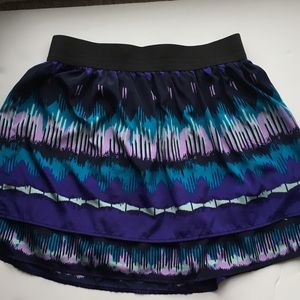 LC layered skirt cool colors